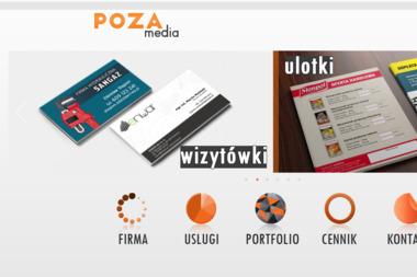 Poza Media. Strony internetowe, drukowanie - Ulotki Słotwina