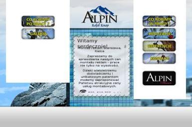 Alpin Rafał Knap. Alpinista, montaż reklam - Prace wysokościowe Kamionka