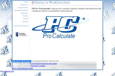 PPUH ProCalculate - Usługi finansowe Niewodniki