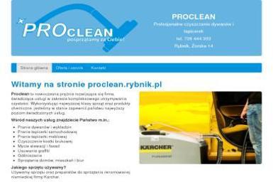 Proclean. Czyszczenie, usługi sprzątania - Czyszczenie Tapicerki Meblowej Rybnik