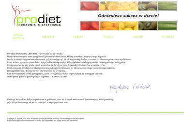 """Poradnia Dietetyczna """"Prodiet"""" - Dietetyk Zielona Góra"""