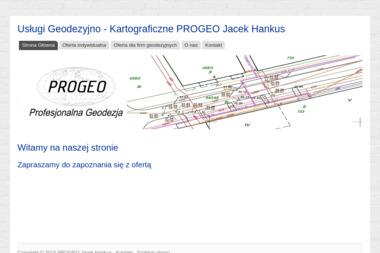Progeo Usługi Geodezyjno - Kartograficzne Jacek Hankus - Geodeta Stargard