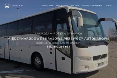 Międzynarodowe i Krajowe Przewozy Autokarowe Andrzej Syrówka - Przewóz osób Pasek