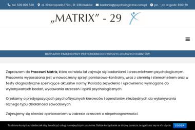Pracownia Badań Psychologicznych Matrix-Filia - Poradnia Psychologiczna Kraków