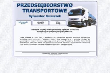 Przedsiębiorstwo Transportowe Sylwester Banaszek - Firma transportowa Węgrów