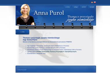 Biuro Tłumaczeń Anna Purol - Biuro Tłumaczeń Dąbrówka
