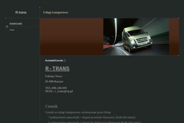 R-Trans Wanda Omietańska. Transport - Transport Drogowy Falenty Nowe