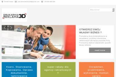 Drukarnia Reklama 3D. Drukarnia wielkoformatowa, drukarnia offsetowa, pracownia reklamy - Ulotki Oława