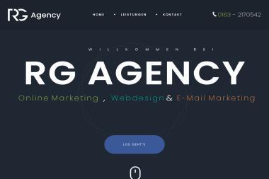 Rg.Agency Agencja Artystyczno-Reklamowa. Reklama, wizytówki - Agencja Interaktywna Brzana
