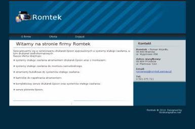 Roman Wojniłło Romtek - Webmasterzy Brwinów
