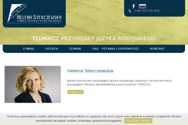 Helena Sterczewska Tłumacz Przysięgły Języka Rosyjskiego - Tłumacze Mińsk Mazowiecki