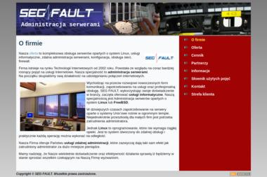 SegFault. Administracja serwerów, administracja serwerami - Strony internetowe Zabrze
