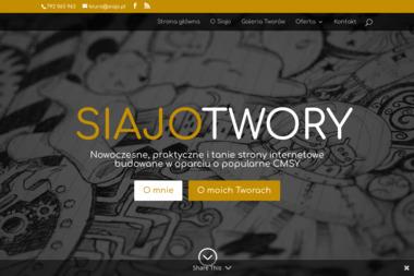 Siajo. Strony internetowe, strony www - Usługi Poligraficzne Nowy Sącz