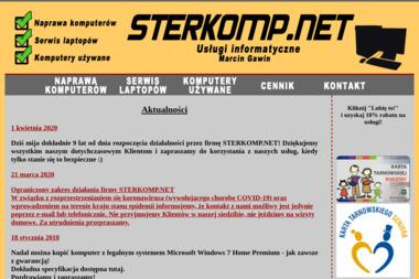 Sterkomp.net. Naprawa komputerów, komputery używane - Serwis Komputerowy Tarnów