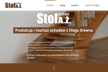 StolAŻ Stolarstwo Aleksandra Żebrowska - Schody drewniane Tarnowo Podgórne