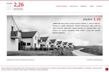 Studio 2,26 Mariusz Rams, Tomasz Sus Biuro Projektów s.c. Architektura, biuro projektów - Adaptowanie Projektu Nowy Sącz