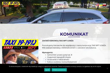 Taxi MPT 191-91 - Kurier Łomża