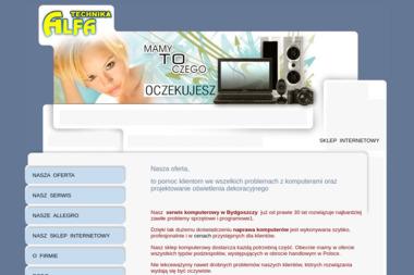 Alfa-Technika. Naprawa komputerów, serwis komputerowy - Firmy informatyczne i telekomunikacyjne Bydgoszcz