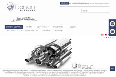 Titanium Partners s.c. Materiały tytanowe, elementy złączne - Obróbka Cnc Wysocko Małe