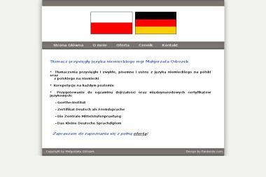 Tłumacz Przysięgły Języka Niemieckiego mgr Małgorzata Odrozek - Tłumaczenie Angielsko Polskie Wadowice