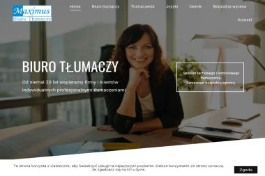 Biuro Tłumaczy MAXIMUS - Tłumaczenie Angielsko Polskie Łódź
