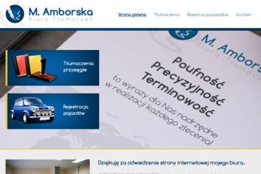 Biuro tłumaczeń Małgorzata Amborska - Tłumaczenia przysięgłe Gostyń