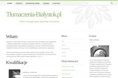 Tłumacz Przysięgły Języka Angielskiego Julia Żylińska - Tłumacz Języka Angielskiego Białystok