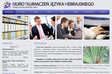 Biuro Tłumaczeń Języka Hebrajskiego. Tłumaczenie język hebrajski, hebrajski - Tłumacze Kłodzko