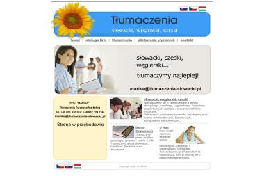 PHU Marika Tłumaczenia Turystyka Marketing Mária Plusová - Tłumacze Częstochowa