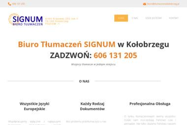 Biuro Tłumaczeń Signum Małgorzata Kunasz - Tłumacze Kołobrzeg