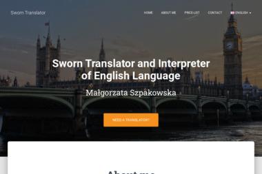 Tłumacz Przysięgły Języka Angielskiego Małgorzata Szpakowska - Tłumacze Giżycko