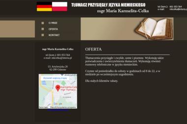 Tłumacz Przysięgły Języka Niemieckiego Maria Karmelita Celka - Tłumaczenia symultanicznie Gniezno