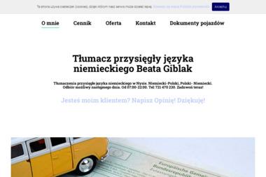 Tłumacz Przysięgły Języka Niemieckiego Giblak Beata - Tłumacze Nysa