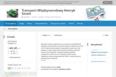 Transport Międzynarodowy Henryk Szram - Firma transportowa Słubice