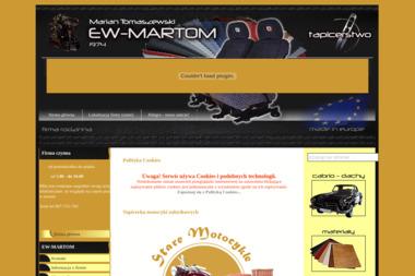 Firma Ew-Martom Marian Tomaszewski - Tapicer Samochodowy Chodzież