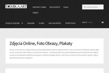 Tomikaart. Us艂ugi fotograficzne, wydruki wielkformatowe, obrazy na p艂ótnie - Ulotki Nowy S膮cz