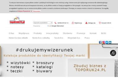 Drukarnia Internetowa TopDruk24 Zelkowski Rysza - Druk katalogów i folderów Łomża