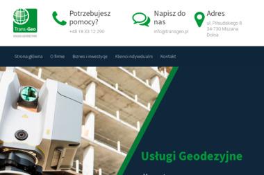 Tran-Geo Usługi Geodezyjne. Geodezja, geodeta - Geodeta Mszana Dolna