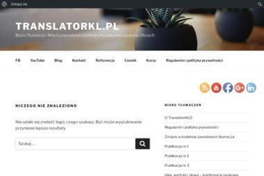 Translator Kinga Latarska - Biuro Tłumaczeń i Międzynarodowe Centrum Kształcenia Języków Obcych - Szkoła językowa Łódź