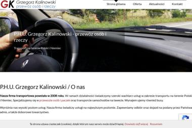 Grzegorz Kalinowski przewóz osób i rzeczy - Przewóz Osób Białystok