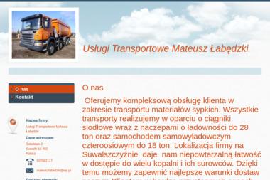 Usługi Transportowe Mateusz Łabędzki - Transport busem Sobolewo