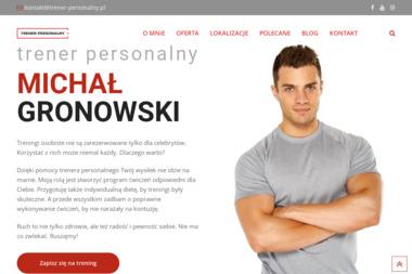 Trener Personalny Michał Gronowski. Treningi personalne, treningi osobiste - Trener biegania Warszawa