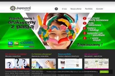 Teamwork Design. Strony internetowe, strony www, poligrafia - Wizytówki na Papierze Ozdobnym Opole