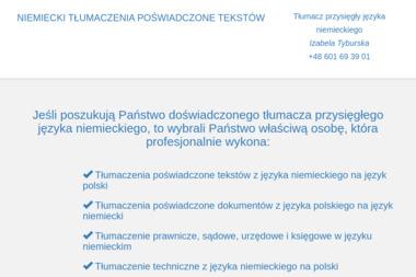 TYBIS Izabela Tyburska - Tłumaczenia przysięgłe Bydgoszcz