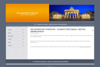 Usługi Tłumaczeniowe. Katarzyna Tymoszuk - Tłumacze Biała Podlaska