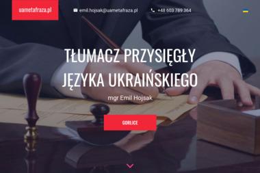 Uametafraza Pl Emil Hojsak - Tłumacz Języka Angielskiego Gorlice