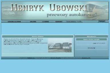 Firma Przewozowa. Henryk Ubowski - Usługi Transportowe Połaniec