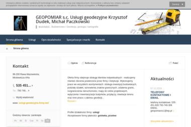 Geodeta Uprawniony Krzysztof Dudek. Geodezja - Ekipa budowlana Rawa Mazowiecka