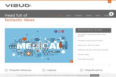 Agencja fotograficzno-reklamowa Vizuo. Identyfikacja wizualna, strony internetowe - Strony internetowe Zaczernie