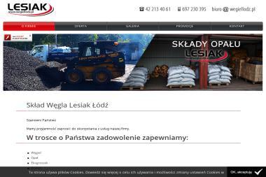 Lesiak Skład opału Węgiel, ekogroszek - Skład węgla Bedoń Przykościelny